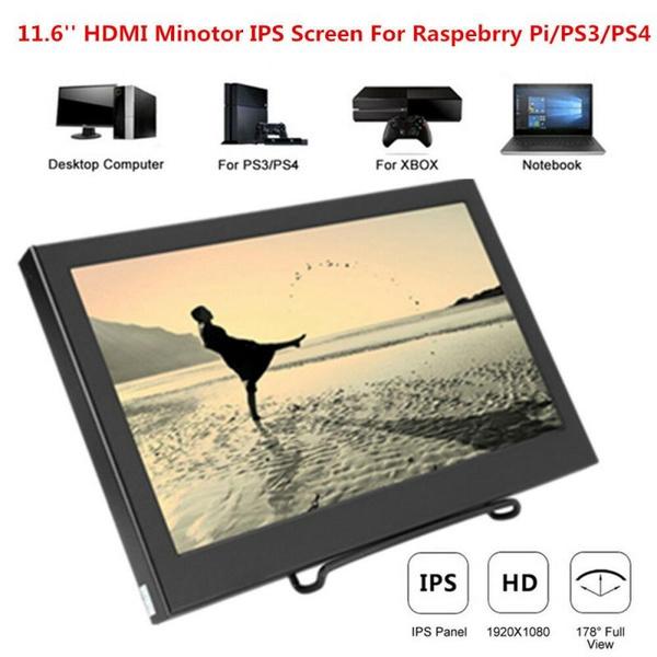 11 6inch IPS LCD Screen Display HD 1080P HDMI VGA Monitor For Raspberry  Pi/PS3/4