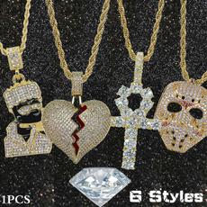 Necklace, Heart, Men, jesus