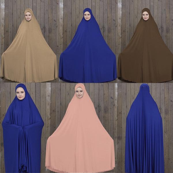 Hajj and Umrah Ladies Long Khimar Muslim Women One Piece Prayer Hijab Dress  Abaya Haji Ladies Long Hijab Shawl Islamic Clothing