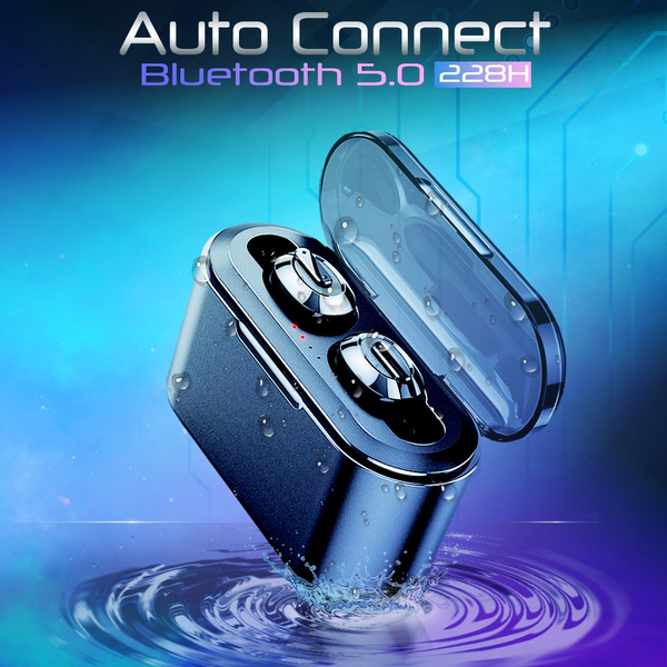 Auto Connect Wireless Bluetooth 5 0 5D Stereo TWS Bluetooth Headset In Ear  Earbuds with Battery Charger Box Hands free Mini Headphones