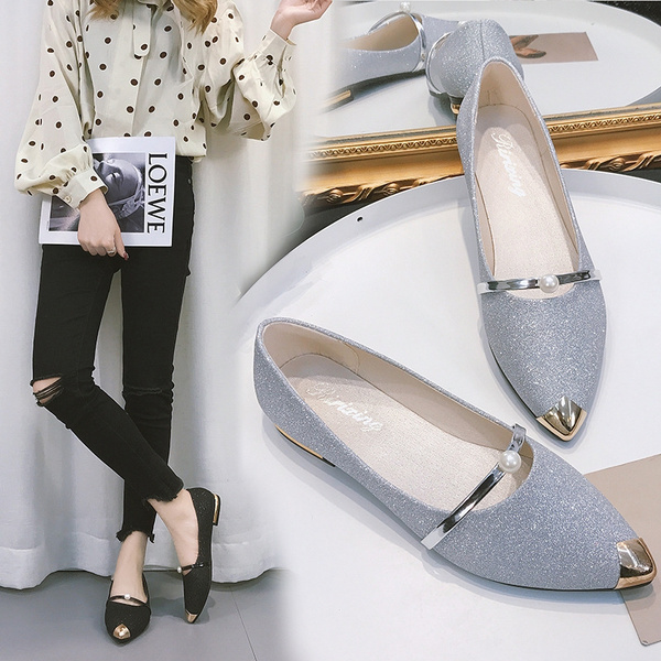 New Women\u0027s Single Shoes in Summer of 2019 Fashion Tip Flat,soled Shoes  Pointed Shoes for Women