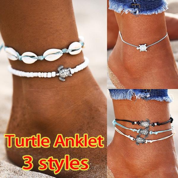 beadankle, ankletforwomen, Rope, Jewelry