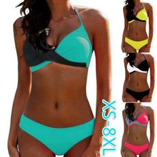 Summer, Underwear, two piece swimsuit, women beachwear