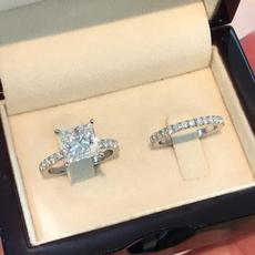 Sterling, Silver Jewelry, DIAMOND, wedding ring