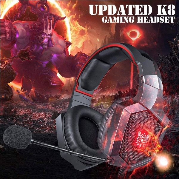 2019 NEW Stereo HiFi Gaming Headset for PS4 New Xbox One, Stereo Over-ear  Headphones & Noise-canceling Microphone with Mic for PC Computer Mac Laptop