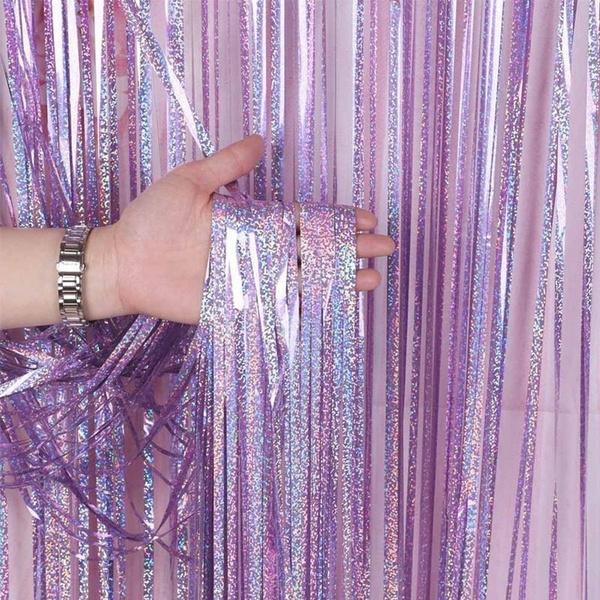 party, metallicfoilfringe, weddingdecor, Door