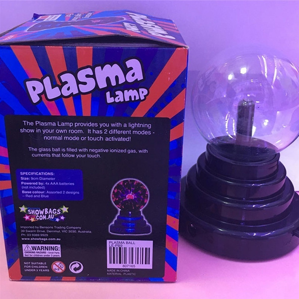 Magic 3'' Plasma Ball Lamp Large Electric Globe Static Light Electric Globe  Static Nebula Light Mini Tesla Energy Coil Creative Led Science Gift For