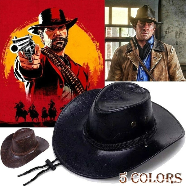 Cosplay Red Dead Redemption 2 Panama Hat Rdr2 Arthur Morgan Leather Western  Cowboy Hat