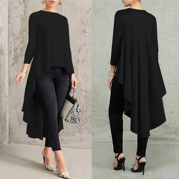 blouse, tunic, 34sleeve, Long Sleeve