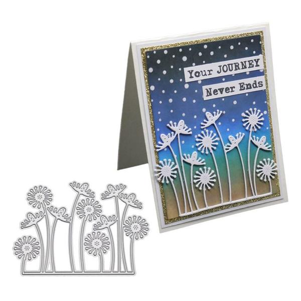 Dandelion Cutting Dies DIY Stencil Scrapbooking Paper Album Card Embossing Craft