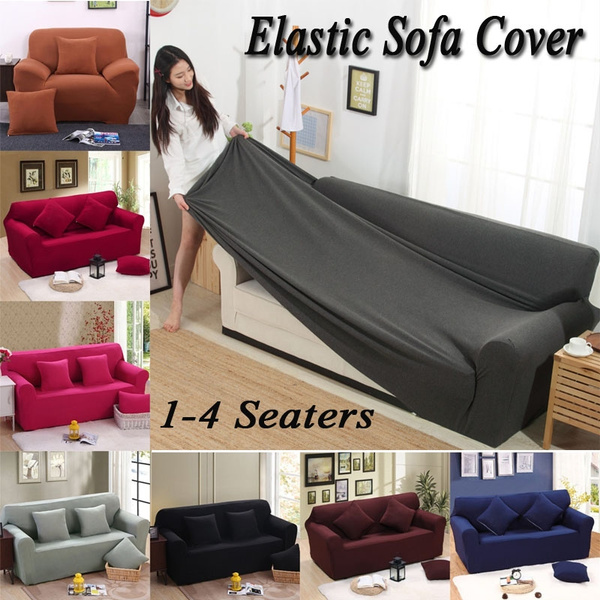 1-3 Seaters Elastic Sofa Slipcover Tight Wrap All-inclusive Slip-resistant  Sofa Cover L Shape Recliner Protector Cover Set Lounger Chair Couch Cover
