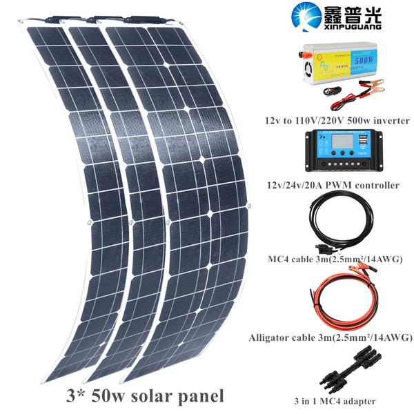 50w 16V Flexible Solar Panel Mono Kits for RV Yacht Caravan 12v Battery Charging