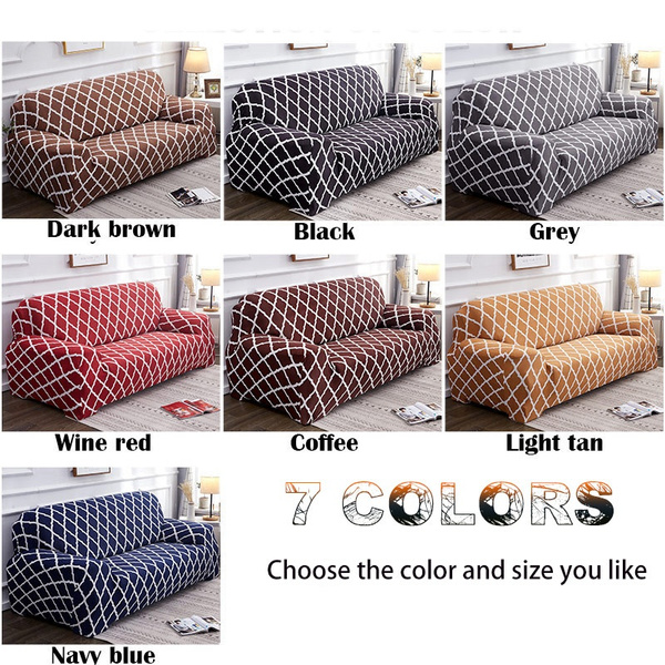 Wish | One seat / two seat / three seat / four seat geometric pattern stretch all-inclusive sofa cover geometric print sofa cover