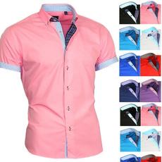 dressshirtsmen, Summer, camisasocialmasculina, Shirt