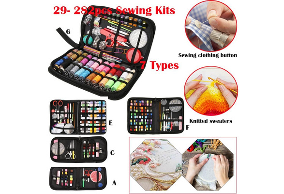 Sewing Kit Needle Thread Portable Travel Tape Scissor Button Handcraft 40PCS