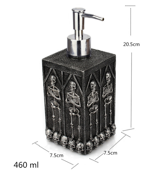 Wish | 460ml Creative Skull Liquid Bottle Square Bathroom Hand Sanitizer Bottle