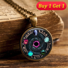 wiccan, Chain Necklace, Jewelry, wicca