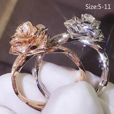 crystal ring, wedding ring, Rhinestone, promise rings
