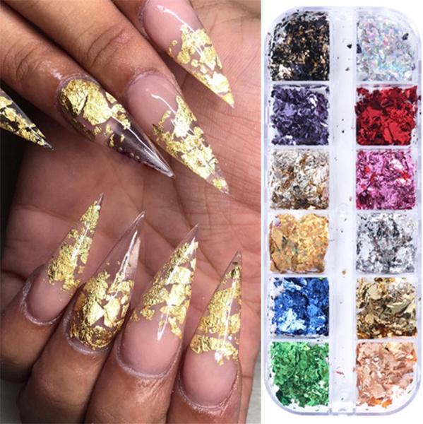nail decals, Glitter, art, foilnail