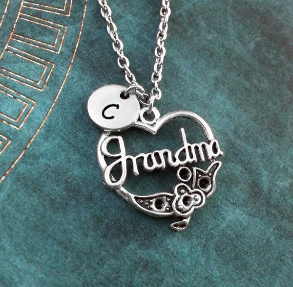 Grandma Necklace Grandmother Necklace Personalized Necklace