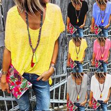 Summer, Plus Size, Comida, topsamptshirt