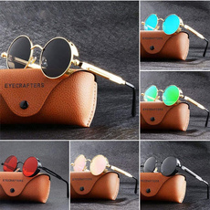 Fashion, Fashion Accessories, Round Sunglasses, Steampunk