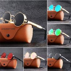 Fashion, Fashion Accessories, Round Sunglasses, Steampunk