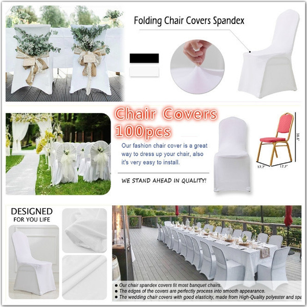 Stupendous Modern Wedding Chair Cover Spandex Stretch Elastic Banquet Chair Covers Kitchen Dining Seat Hotel Chair Covers Outdoor 100Pcs Camellatalisay Diy Chair Ideas Camellatalisaycom