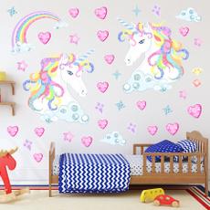 wallstickersampmural, rainbow, Star, Heart