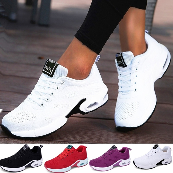 buy popular 38434 e81eb 2019 New Fashion Women Lightweight Breathable Sneakers Comfortable Running  Shoes Air Cushion Sport Shoes