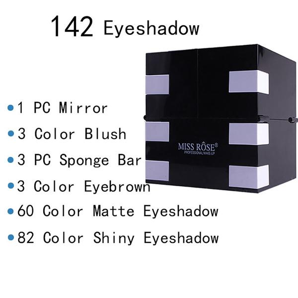 6eccc21671a4 MISS ROSE Make Up Matte 144 Color Eye Shadow 3 Color Blush 3 Color Eyebrow  Color Eyeshadow Pallete Makeup Kit Cosmetics Set