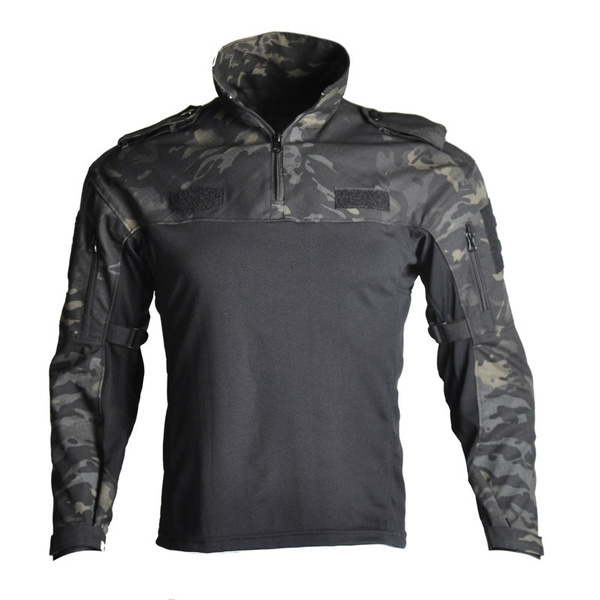 Military Work Wear & Uniforms Military Army T-shirt Men Long Sleeve Camouflage Tactical Shirt Hunt Combat Soldier Field T-shirts Outwear