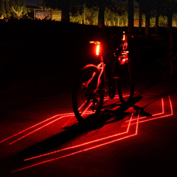 USB Charging Bike Tail Light Cycling Bicycle Safety Warning Rear Lamp Taillight