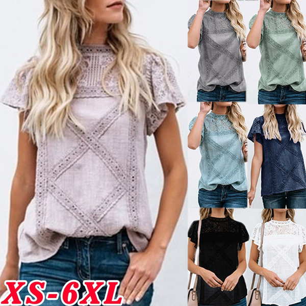 Summer, Fashion, Lace, Tops