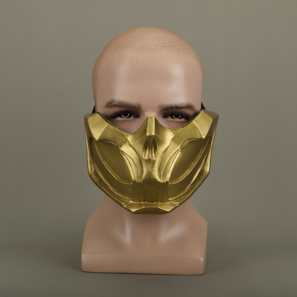 Cosplay Mortal Kombat 11 Scorpion Mask Hanzo Hasashi Halloween Mask PVC Props