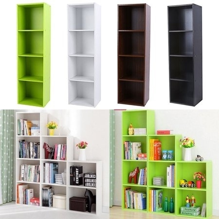Wooden Storage Unit Cube 3,4 Tier Strong Bookcase Shelving Home Office Display