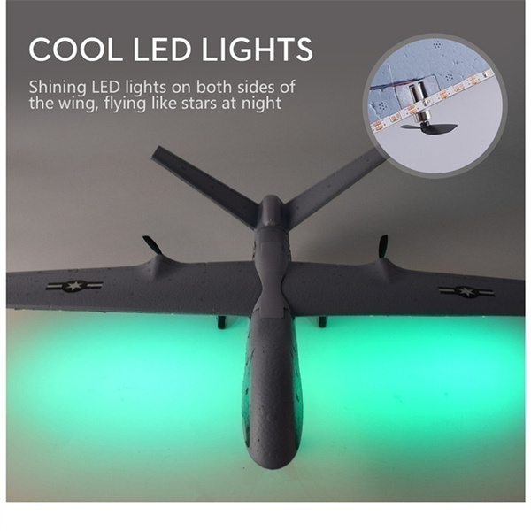 660mm EPP DIY RC Airplane Plane Z51 20 Minutes Fligt Time Gliders 2 4G  Flying Model with LED Hand Throwing Wingspan Foam Plan Toys Kids Gifts  Handmaed
