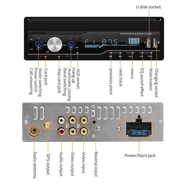 7 Inch Car Stereo MP5 Player GPS Navi RDS FM AM Radio Bluetooth AUX Stereo  Player Autoradio