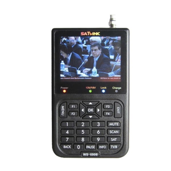 3.5/'/' SATlink WS-6906 DVB-S FTA Data Digital Satellite Signal Finder Meter LCD