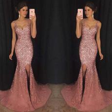 Deep V-Neck, gowns, Fashion, long dress
