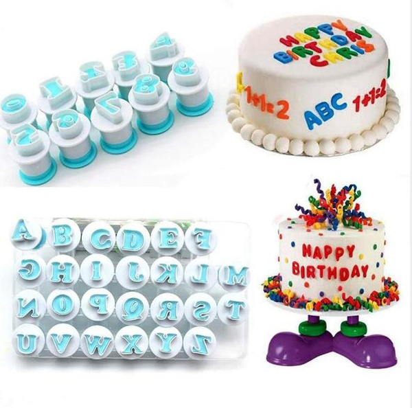 Tremendous Kitchen English Letters Numbers Birthday Cake Cookie Mold Fondant Personalised Birthday Cards Veneteletsinfo