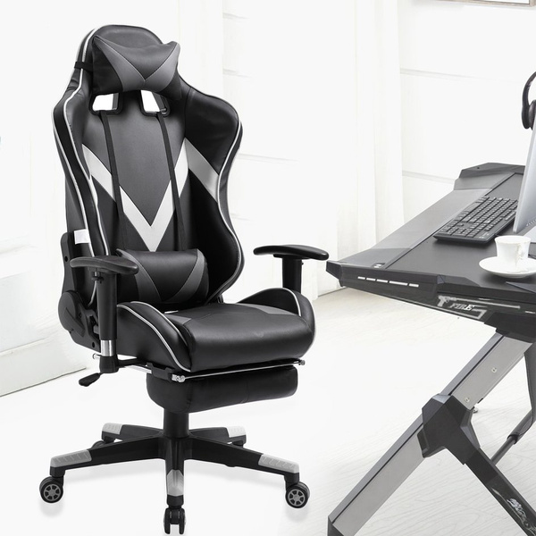 Sensational Soft Comfortable Racing Gaming Office Chair Computer Desk Pc Leather Chair Squirreltailoven Fun Painted Chair Ideas Images Squirreltailovenorg