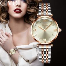 metalstrapwatch, Fashion, rosegoldwatch, Ladies Watches