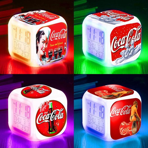 Coca Cola, Toy, led, Clock