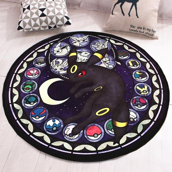 80/100cm Pocket Monster Round Non Slip Door Floor Rug Mat Bedroom Carpet Home Decor Fashion Carpets Living Room by Wish