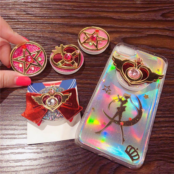 Anime Sailor Moon Cute Girls Phone Mount Finger Ring Holder Mobile Stand by Wish