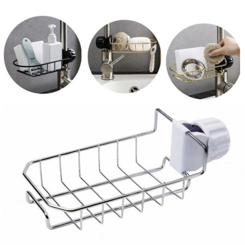 1-3 Tier Kitchen Bathroom Storage Rack Over The Toilet Shampoo Organizer Shelf