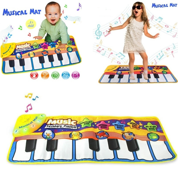 Children Baby New Play Keyboard Musical Music Singing Gym Carpet Mat Kids Toys
