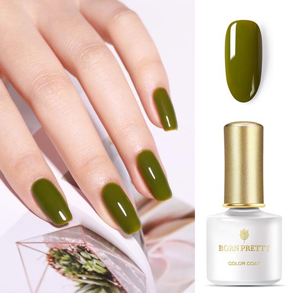 Born Pretty Gel Nail Polish Olive Green Series Soak Off Nail Uv Gel Varnish