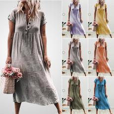 Summer, Plus Size, Vintage dress, long dress